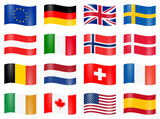 swung country flags - 94797768