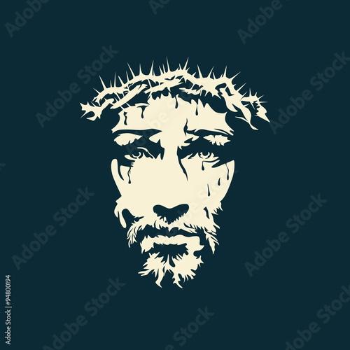 Zdjęcia na płótnie, fototapety, obrazy : Face of Christ hand drawn