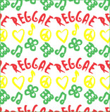 reggae peace love music pattern background