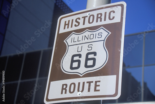 Poster A historic route 66 sign