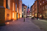 Fototapety Old Town of Warsaw by Night in Poland