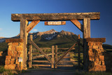 Historic Last Dollar Ranch gate, Hastings Mesa, Route 58p, near Ridgway, Colorado, USA, 06.29.2014