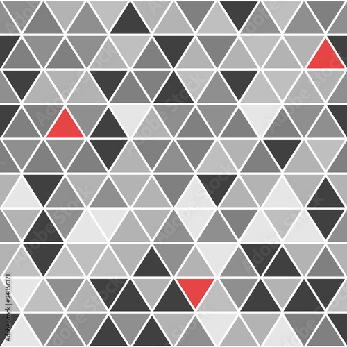 Geometrical vector seamless pattern with triangles