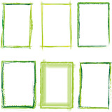 Fototapety grüner Rahmen set