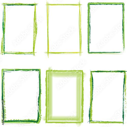 grüner Rahmen set