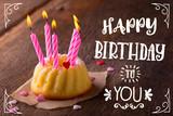 Fototapety Happy Birthday - Süße Grußkarte zum Geburtstag