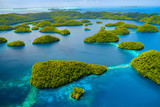 Fototapety Palau islands from above