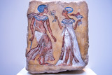 Pharaoh and his wife from 14th century BC on egyptian relief