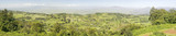 Panoramic view of Great Rift Valley in spring after much rainfall, Kenya, Africa