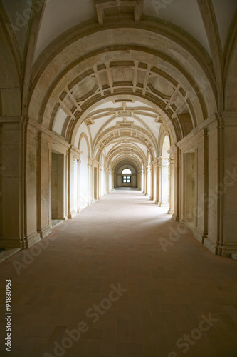 Interior arches of the Convent of the Knights of Christ and Templar Castle, foun Poster