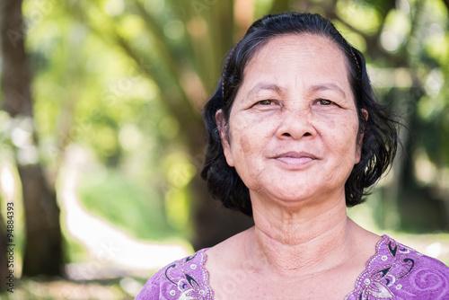 Close up portrait de femme thaïlandaise Poster