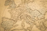 Fototapety アンティークの世界地図 ヨーロッパ