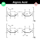 Alginic acid molecular structure poster