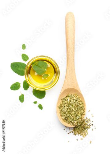 Oregano Leaves, Dried Oregano and Olive Oil