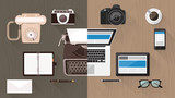 Fototapety Desktop and devices evolution