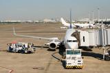 空港のジェット旅客機
