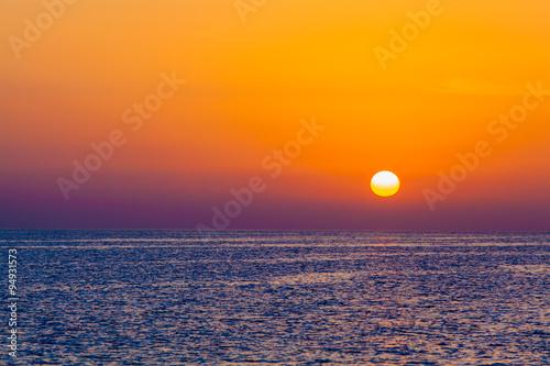 Obraz sunrise in the sea. beauty landscape. Wonderful sunrise
