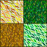 Four Vintage leaf Seamless Pattern set