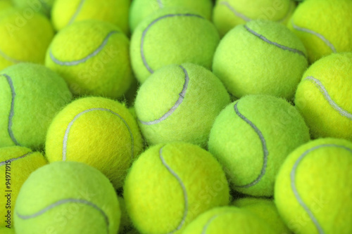 Balle de tennis comme sportif