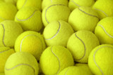 pile of tennis ball as sport background
