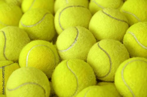 Tas de balle de tennis comme sportif