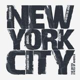 Fototapety New York City Typography design