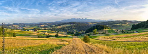 obraz lub plakat Panorama of Tatra mountains, Poland