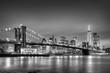 Obrazy na płótnie, fototapety, zdjęcia, fotoobrazy drukowane : Brooklyn bridge at dusk, New York City.