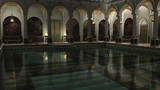 Roman Baths at Night - illustration