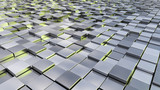 silver metallic cubes