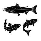 Fototapety salmon logo