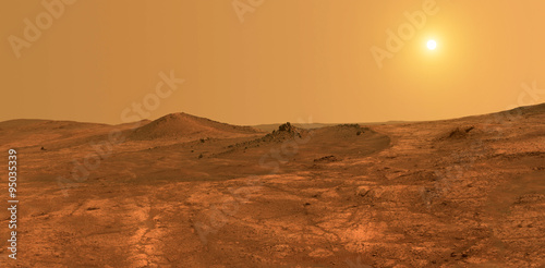 Planet Mars, surface - Elements of this image furnished by NASA