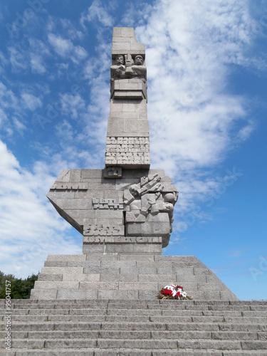 Poster War monument in Westerplatte, Gdańsk