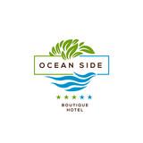 Logo for hotel, ocean side resort, logotype design