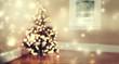 Star shaped lights on Christmas tree
