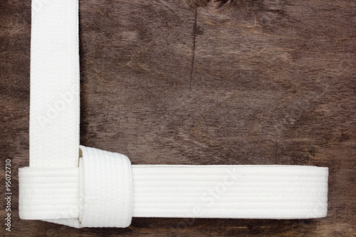 Poster White belt karate