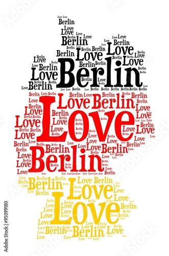 Naklejka Love Berlin