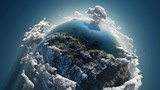 Fototapety Cloud earth in space