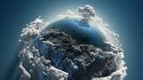 Fototapety Cloud earth in space