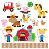 Fototapety Farm vector illustration