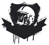 american football stencil shield