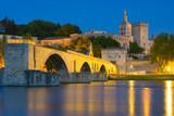 Fototapety Avignon in a summer night