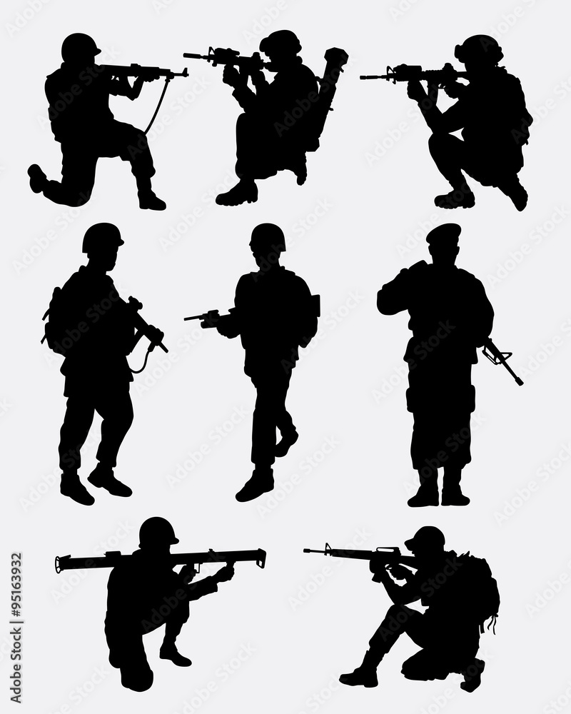 Army Military Training Action Silhouette Good Use For  : 1000F95163932TpHqwmKJof86i262eSGsNuR6FgLrbvzu from thestickerstudio.com size 800 x 1000 jpeg 93kB