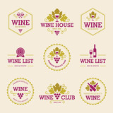 Colored Wine Labels and Badges