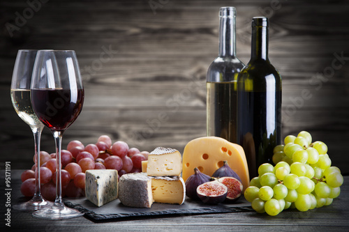Wine and cheese Poster