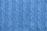 Knit blue background in full frame - 95184530