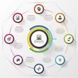 Rolling circle. Modern design template. Vector illustration