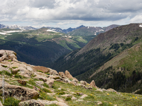 Foto op Aluminium Bergen Rocky mountain national park, USA - views from trail ridge road