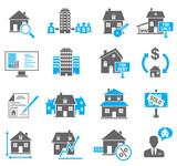 Fototapety Real Estate Icons Set