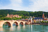 Beautiful view of Alte Brucke bridge and castle - Fine Art prints